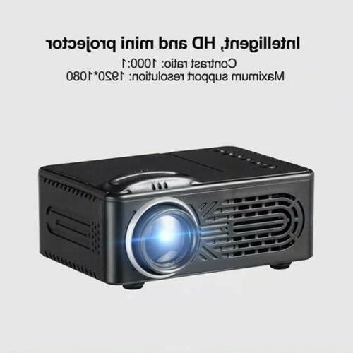 Full HD 1080p Mini Projector Screen w/HDMI/AV/USB