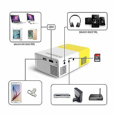 Artlii Portable Mini Home Video Projector with USB/SD/AV/HDMI
