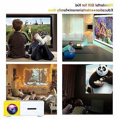 Artlii Portable Home Support Projector USB/SD/AV/HDMI