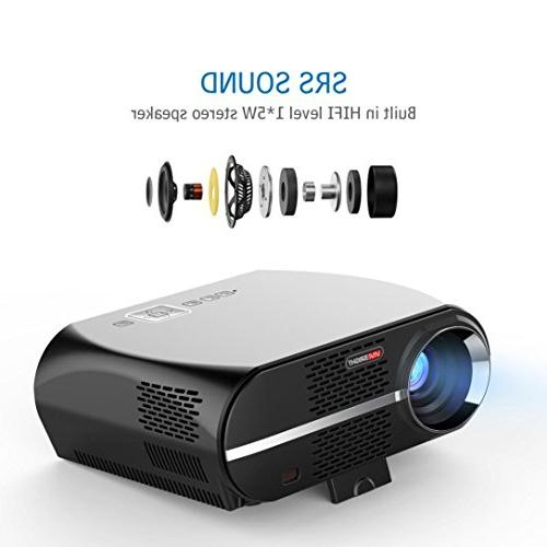 GP100 1080P Full-HD Quality Video Projector 90-240V US Projector