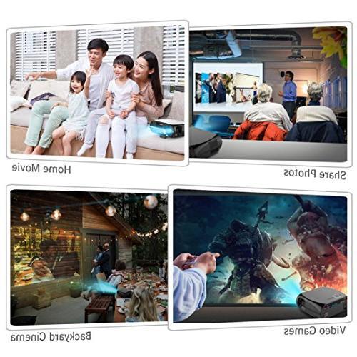 GP100 Full-HD Video Projector 3200 Lumens 90-240V Home Projector