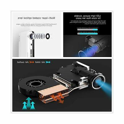 WOWOTO Mini Projector Portable,