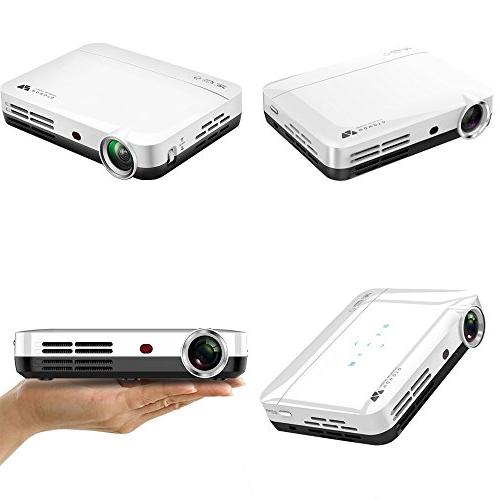 WOWOTO H10 Smart RAM/8GB 3D Projector 4K with Keystone HDMI WiFi Bluetooth with