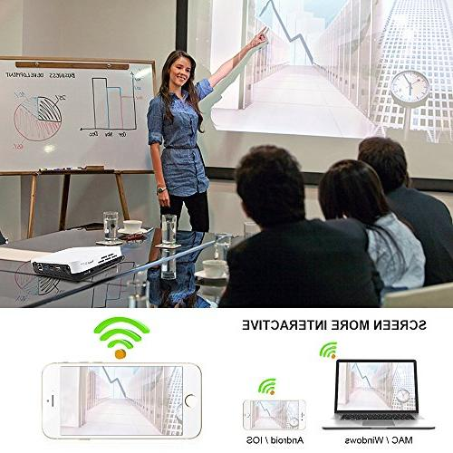 Smart RAM/8GB DLP Projector 4K with WiFi Portable with Case