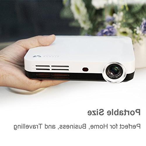 WOWOTO H10 Projector Smart Android 6.0 RAM/8GB 3D Projector 1080P with WiFi Bluetooth with
