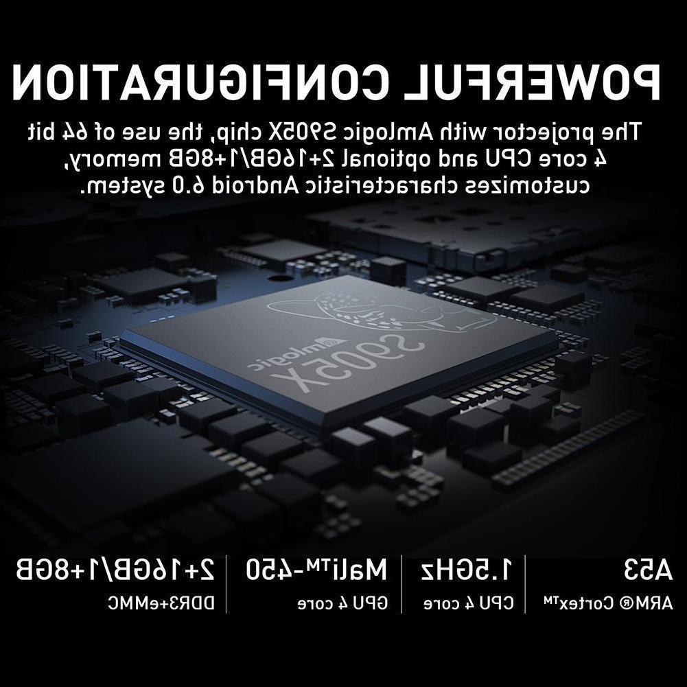 H96-P Mini Theater DLP Android6.0 BT4.0 4K Lot