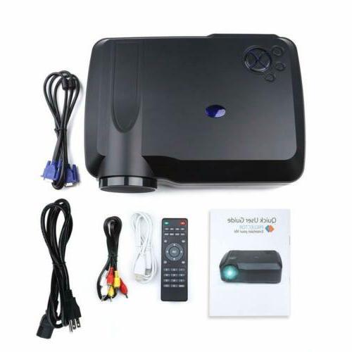 Crenova Projector HDMI VGA USB SD AV TV