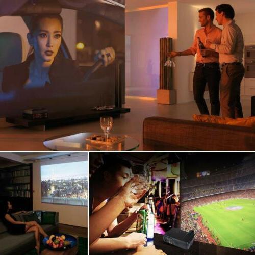 Crenova 1080P Full LCD Home Projector HDMI VGA SD AV TV