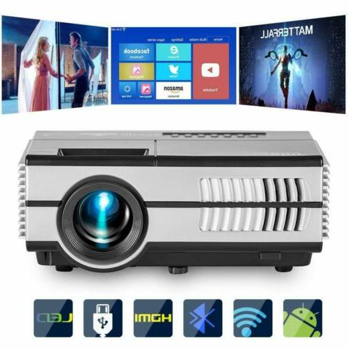 EUG Android 2800lm Mini LED Projector Home Theater Baseball
