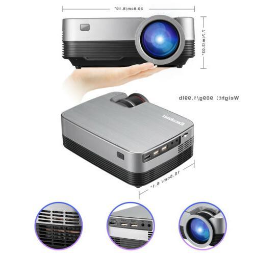 Mini Portable Full HD 1080P LED Home Cinema Lumens