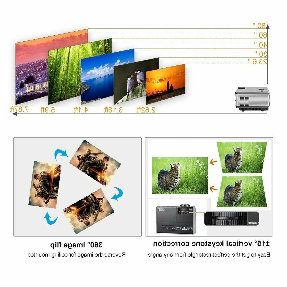 HD 2800LMS Portable LED Wired Screen HDMI Sports US