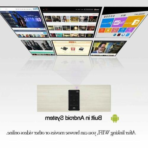 HD Mini Projector WiFi Bluetooth 1080P Home Theater HDMI