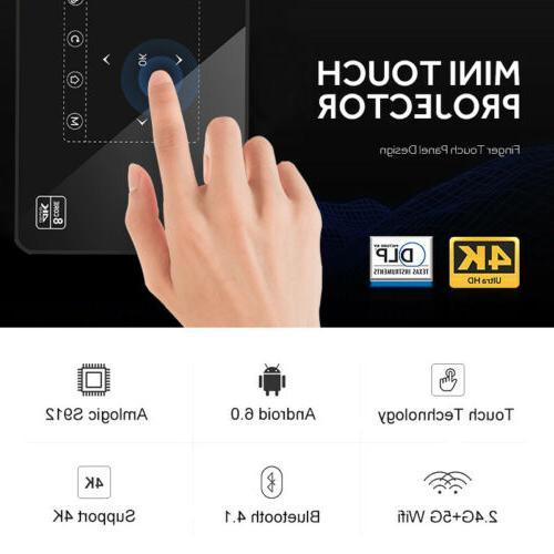HD 4K Mini Projector WiFi Bluetooth 1080P Theater