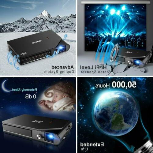 Portable Mini 1080P DLP WiFi Airplay Home HDMI USB