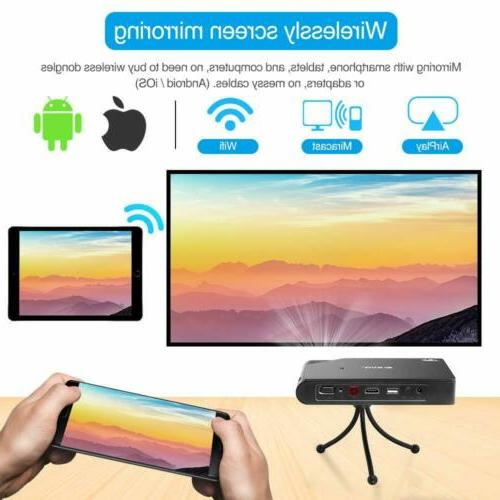 Portable Mini DLP Airplay HDMI