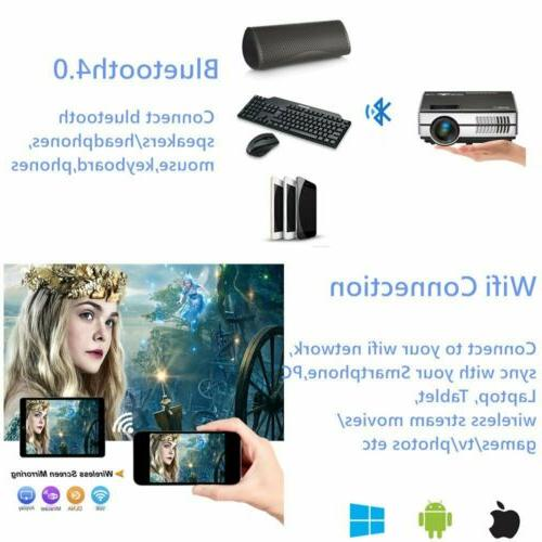 2800lm Smart Projector Android WiFi Home Theater TV HDMI