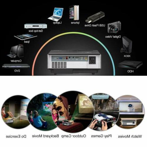 2800lm Smart Projector Android Home TV HDMI