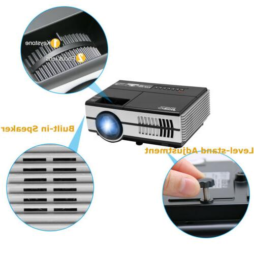 EUG Mini LED Projector Video Display Dongle Home Party