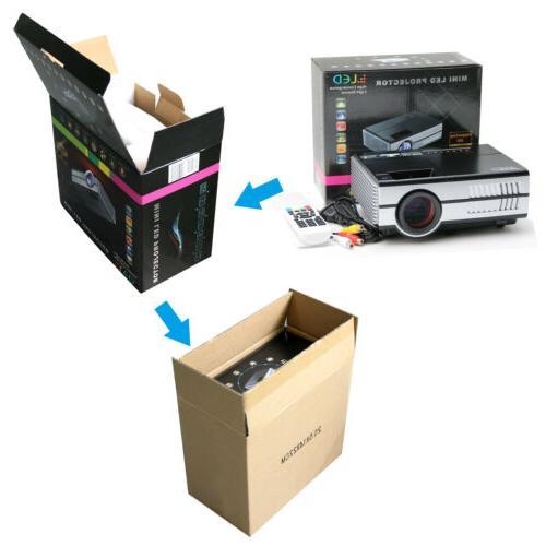 Eug 2800LM Mini Projector Portable HDMI VGA Home Theater AV Video