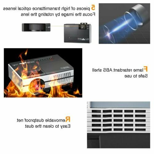 2800lm Mini LED Smart Projector Bluetooth Home Theater HDMI