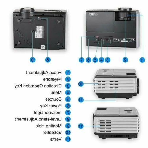 2800lumen Mini WiFi Projector Airplay Kodi