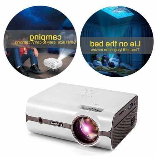 Crenova HDMI Mini Projector Game Video Home Film Party Kid
