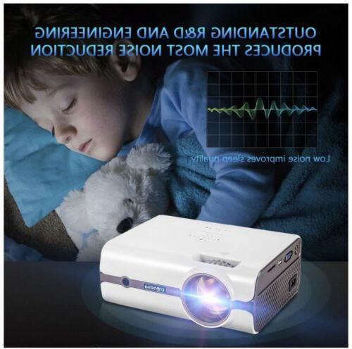 Crenova Mini Protable Projector 2200 DVD PC Party