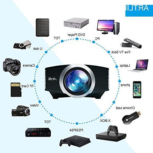 Video Artlii Movie Screen, Laptop with USB/HDMI/SD/HiFi