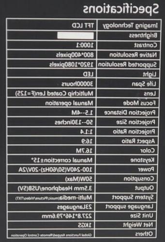 Home DP500 Mini 1500 Portable LED Video