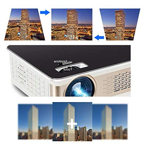 "TANGCISON Projector - LUX LED Projector, Projector 150"" and 1080P Compatible Fire HDMI, VGA, Movie/Home Theater/Game"
