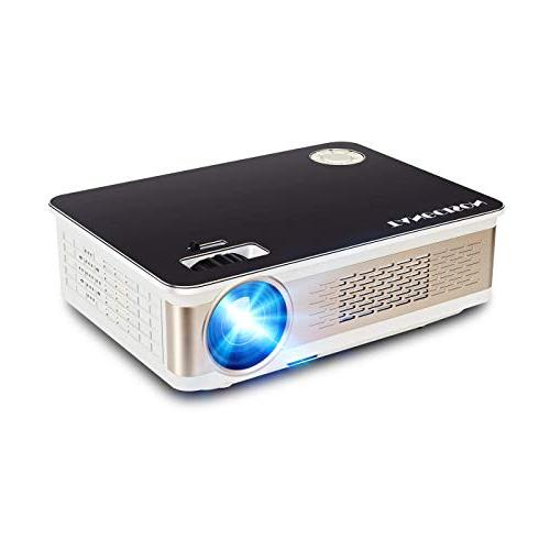 """TANGCISON LUX Projector, Projector 150"""" 1080P Support, Fire Stick, HDMI, VGA, AV and USB Movie/Home Cinema Theater/Game"""