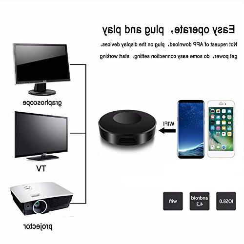 Cewaal Display 1080P AV Screen Adapter, iPhone Android Mac Windows to