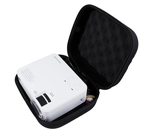 Case DR.J Mini Projector dbpowerT20 1500 Lumens LCD Mini and Accessories