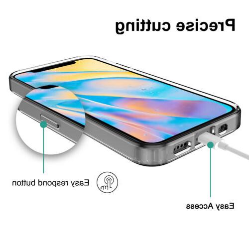 For iPhone 12/Pro/Max/Mini Case Clear Lens Screen Protector