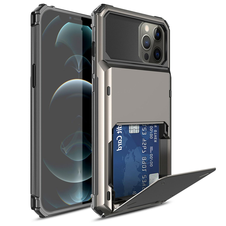 For 12 Max,Mini Wallet Shockproof Hybrid Holder Cover
