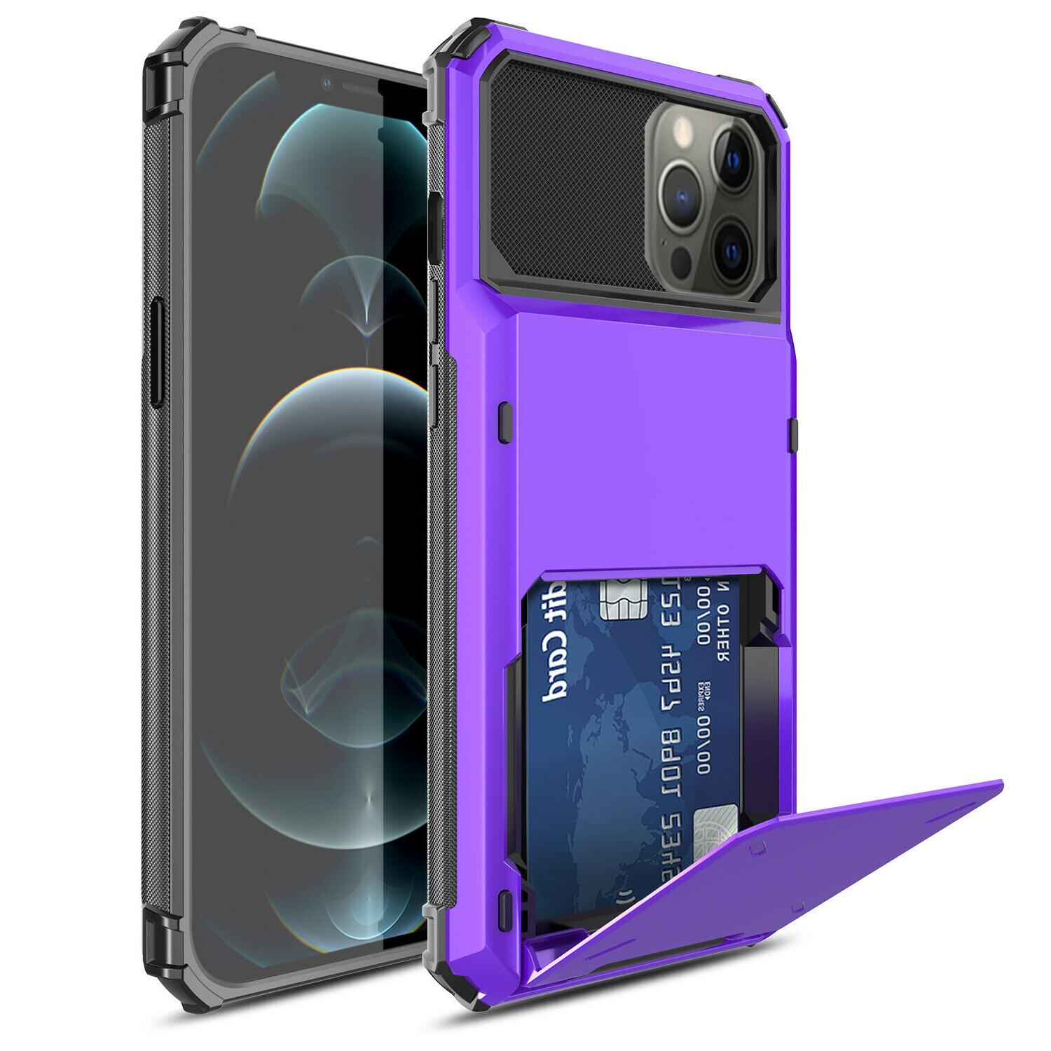 For iPhone 12 Max,Mini Wallet Hybrid Armor Cover