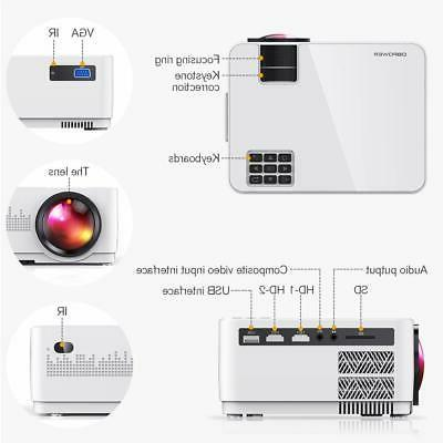 DBPOWER 150 ANSI Mini Projector