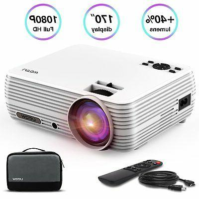 latow mini portable projector with 2200 lumens