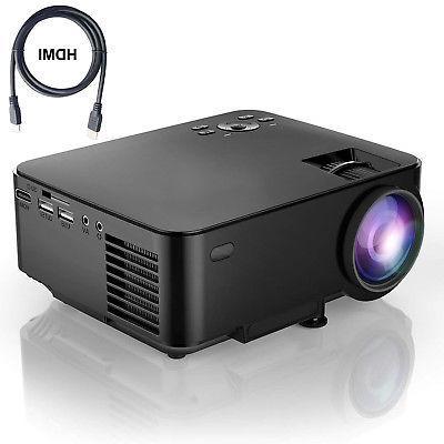 lcd 1800 lumens lcd mini video 1080p