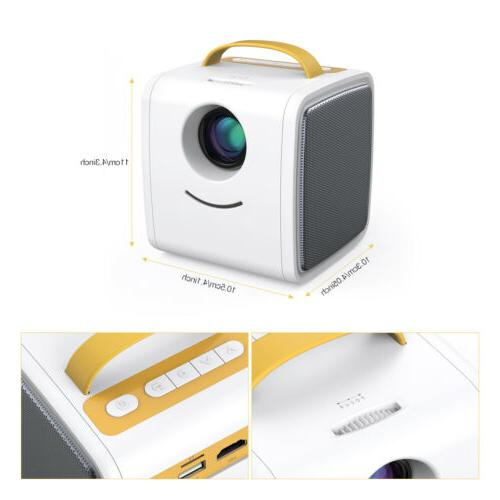 Portable Projector 1080P TF USB