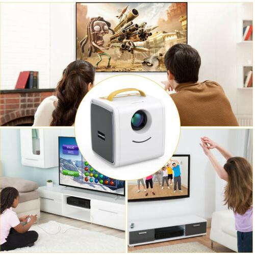 Portable LED Projector 1080P TF AV USB