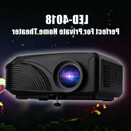 1080P Mini Projector 5000 Lumens LED Multimedia Home Theater