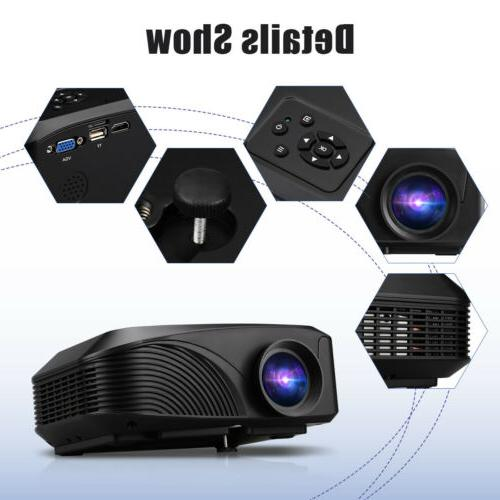 Mini Lumens 1080P FHD 3D Projector Phone Movie Theater