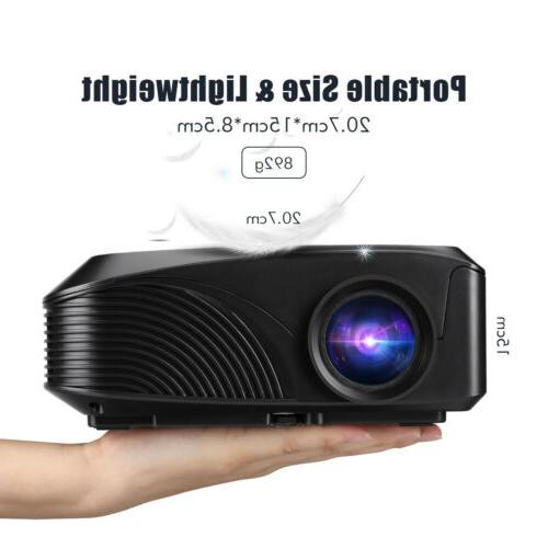 Mini Portable 5000 Lumens 1080P Projector Phone PC Movie