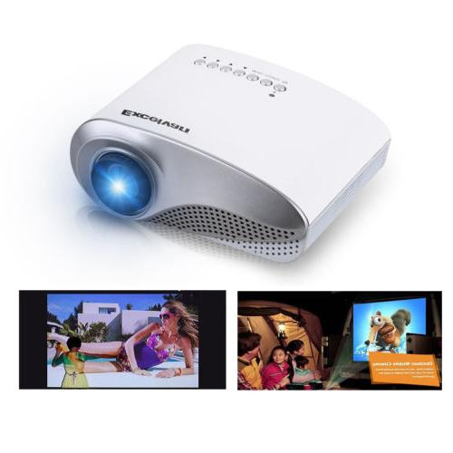 led lcd mini multimedia projector av usb