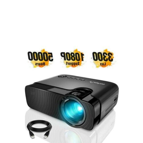 led mini projector 3300 lux portable projector