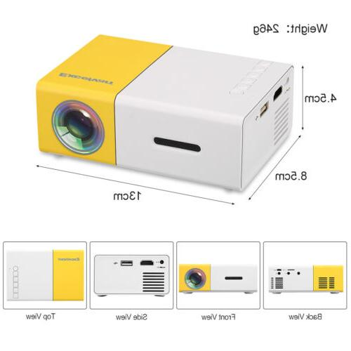Led Mini Projector Portable Theater AV SD USB