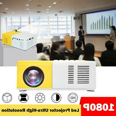 "Led Mini Projector Ultra Portable Theater + 60"" Projection Screen"