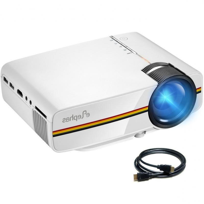 led mini video projector with 1200 luminous