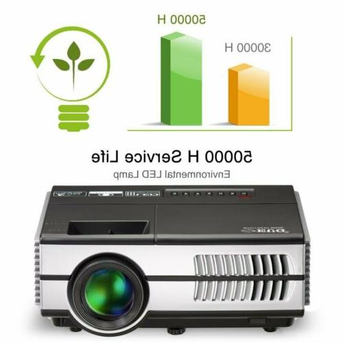 2800lms EUG Projector Bluetooth HD for TV HDMI